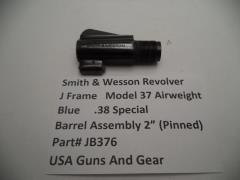 "J376 Smith & Wesson J Frame Model 37 Revolver Part Used Blue Airweight 2"" Barrel"