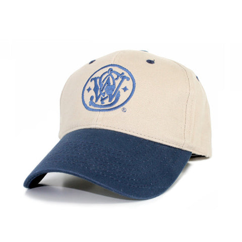 360000105 Smith & Wesson Khaki Cap with S&W Logo in Navy with Adjustable Back Strap