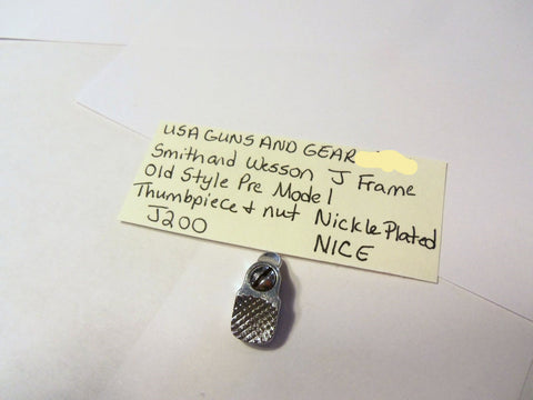 J200 Smith & Wesson J Frame Old Style Thumbpiece & Nut Nickle Plated Used