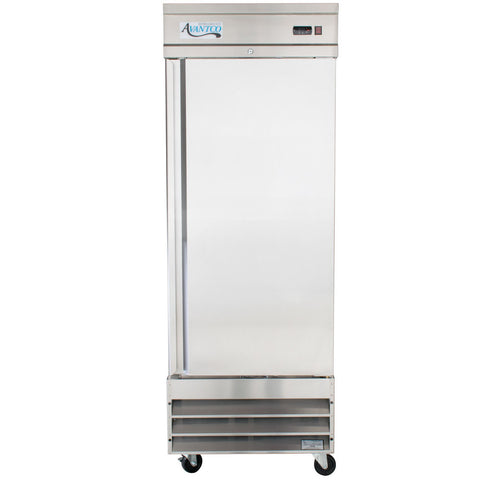 Refrigerator Solid Door Reach in One Section 23 Cu. Ft. Avantco CFD-1RR 29""