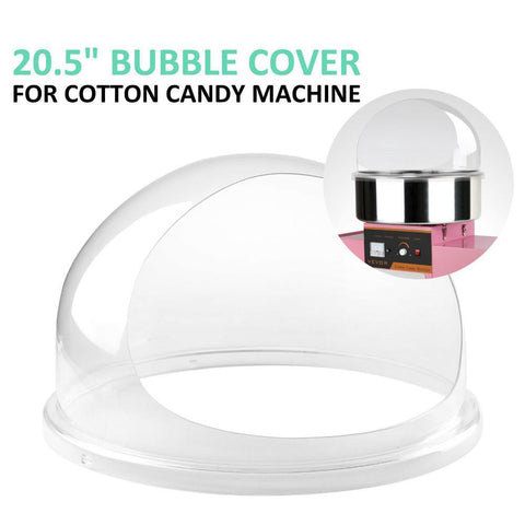Cotton Candy Bubble Plastic Roll Top Cover Floss Maker Clear 20.5""