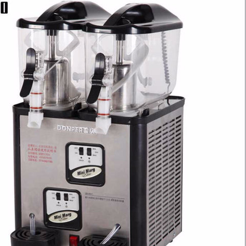 Double Tanks Slushie Machine 6L*2 Slush Dispenser 220V 880W