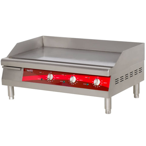 "Avantco EG30N 30"" Electric Countertop Griddle - 208/240V, 3375W-4500W - Your Everything Supplier"
