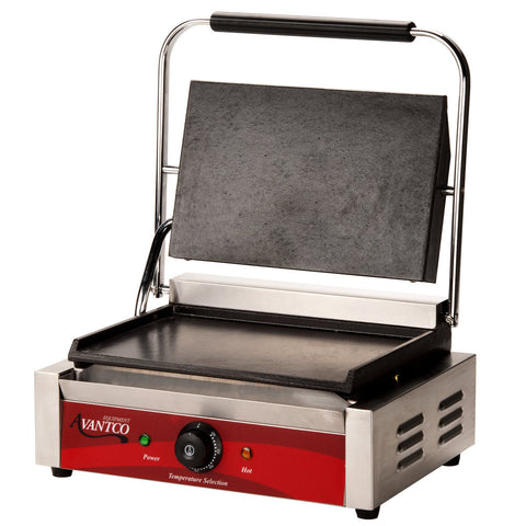 Panini Sandwich Grill Commercial Avantco P70S Single & P85S Double Smooth - Your Everything Supplier