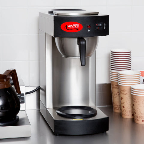 Coffee Maker with 2 Warmers C10 12 Cup Pourover Commercial Avantco 120V - Your Everything Supplier