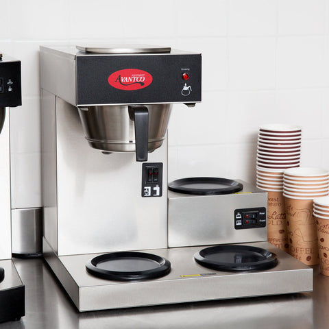 Coffee Maker with 3 Warmers Pourover Commercial Avantco C30 120V