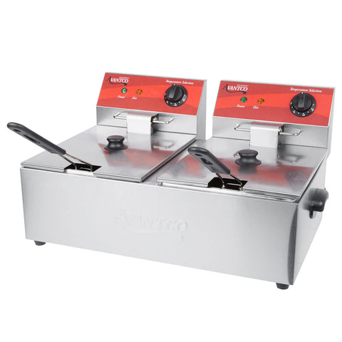 Deep Fryer 3500W 20 LB Commercial Deep Fryer Electric Countertop Stainless Steel Restaurant - Your Everything Supplier