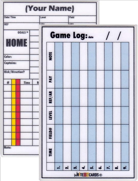 Game Record Card PLUS - Game Log card (GPL) - WriteOnCards.com