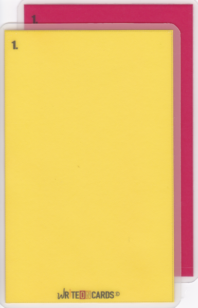 Red & Yellow OPEN set (RYO) - WriteOnCards.com