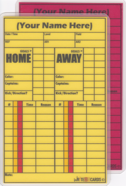 Red & Yellow PLUS set, soccer- Standard Size (RYP-S) - WriteOnCards.com