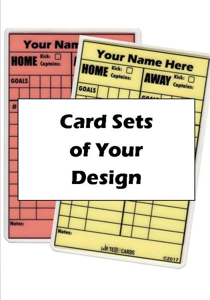 "Card sets (NEON red/yellow) from your ""Fully Customized Design*"" (CD-2N) - WriteOnCards.com"