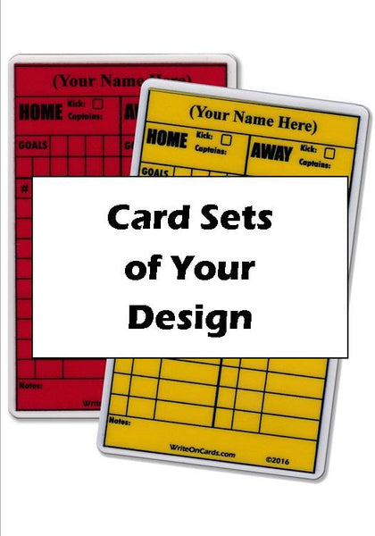 Card sets (red/yellow) from YOUR custom design* (CD-2)