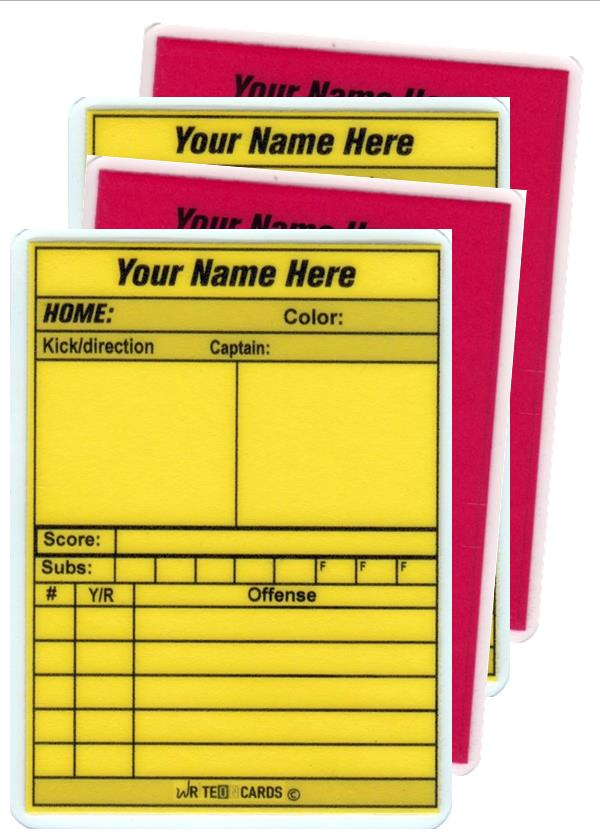 Rugby COMPACT Red & Yellow set of 4 cards (RGC) - WriteOnCards.com