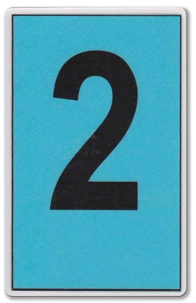 Standard Blue Card (Blu) - WriteOnCards.com