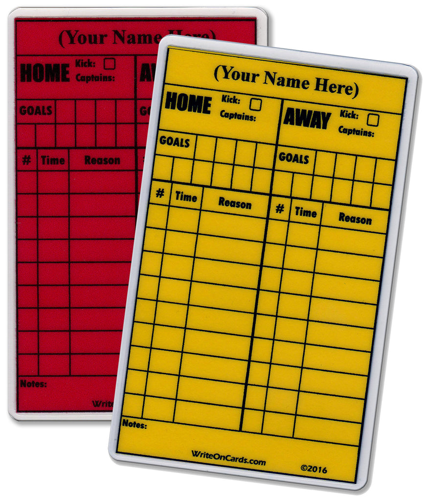 Red & Yellow Set, soccer - Standard Size (RY-S) - WriteOnCards.com