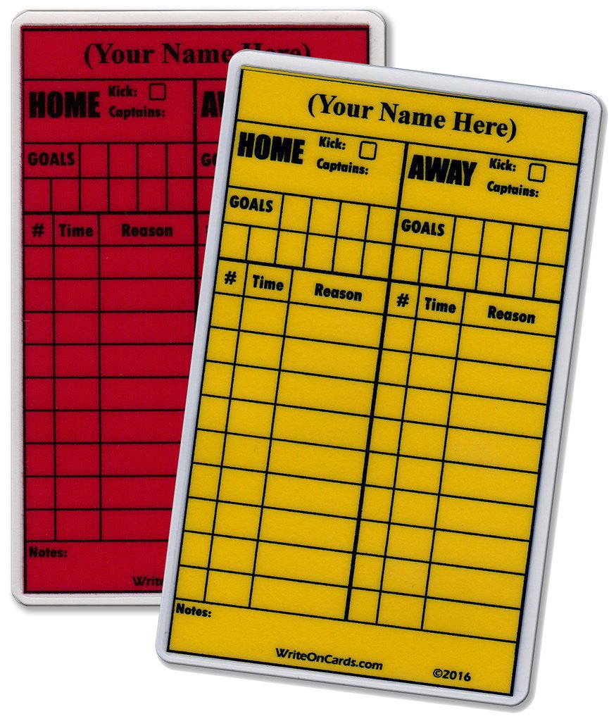 Red & Yellow Set, soccer - Petite size (RY-P) - WriteOnCards.com