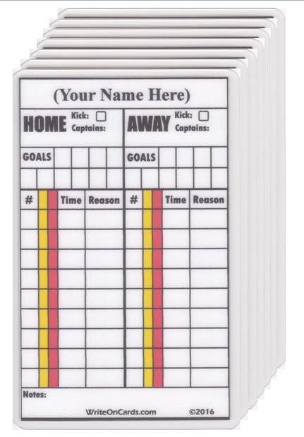 Game Record Cards - Buy 50, SAVE 15%! - WriteOnCards.com