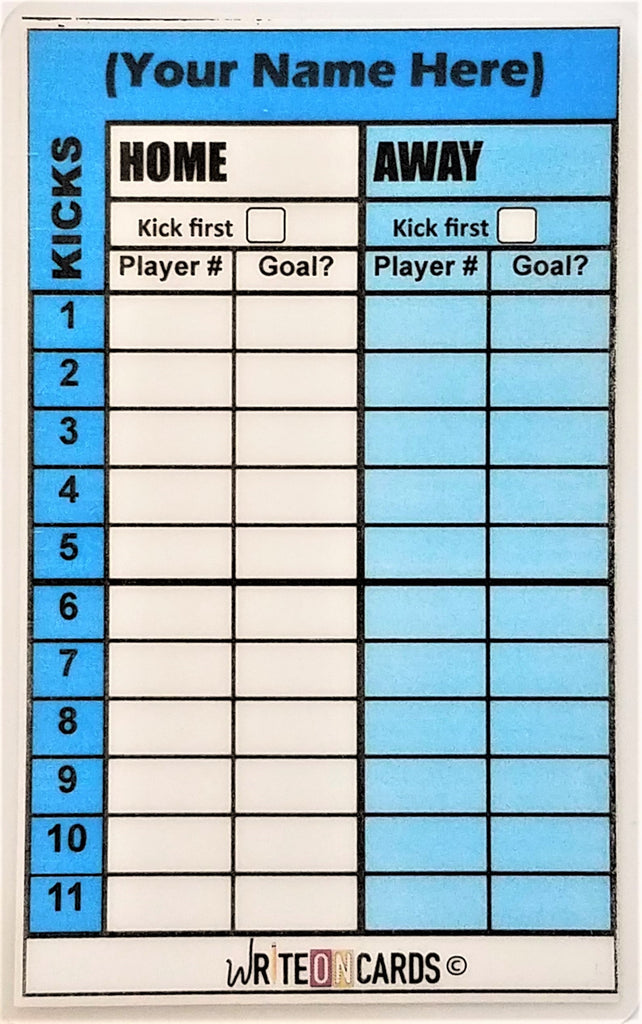 Penalty kicks card- FRONT