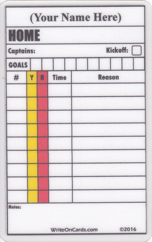 Game Record Card- single game (GR1) - WriteOnCards.com
