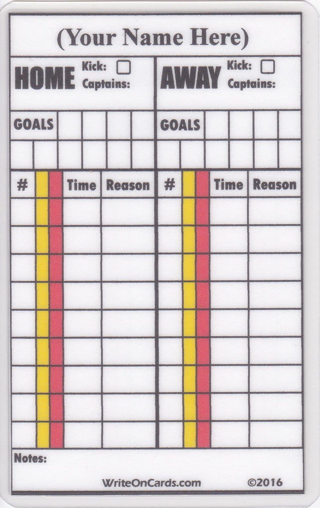 Game Record Card - single game with field back (GR-F) - WriteOnCards.com