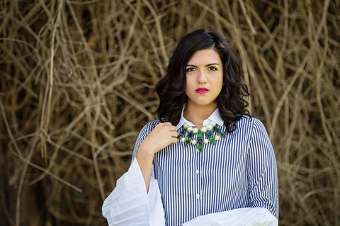Featuring our Esmeralda Statement Necklace