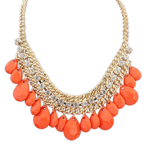 Waterdrop Orange Necklace