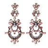 Rosegold Chandelier Statement Earrings