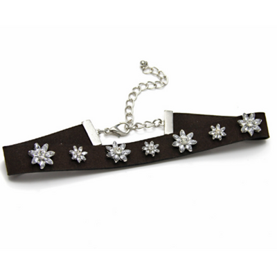 Crystal Flowered Choker