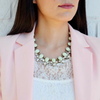 Mint & Sparkle Statement Necklace