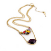 Wine Layered Necklace