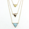 Turquoise Marble Three Layer Necklace