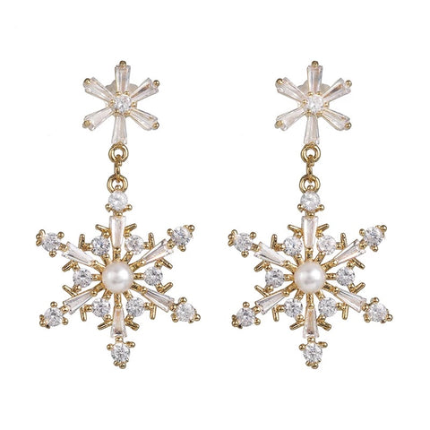 SnowFlake Statement Earrings