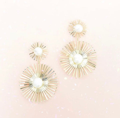 Sunflower Statement Earrings