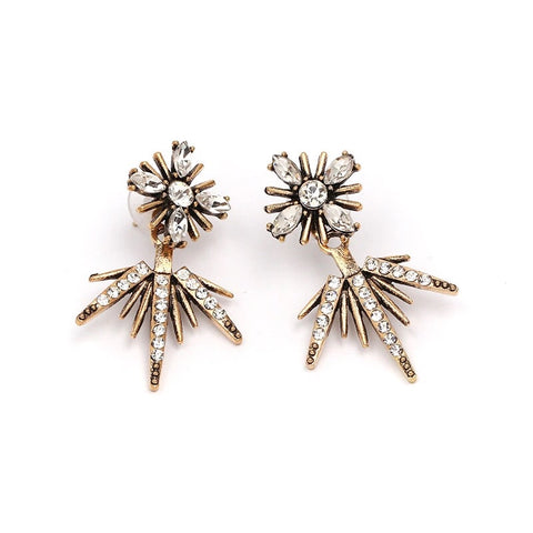 Crystal Spike Ear Jackets