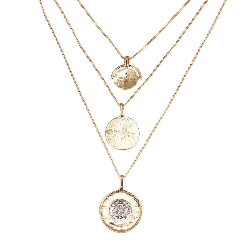 Three Layered Coin Necklace