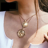 Two Layered Coin Necklace