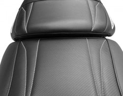 Riva Yamaha GP1800 / VXR Seat Cover, Black/Silver Stitch - Dean's Team Racing / Watercraft Performance