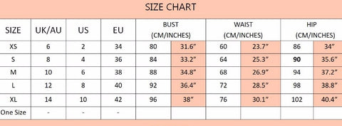 Size Chart Fashion Genie Boutique