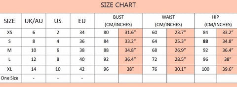 Size Chart - Fashion Genie Boutique
