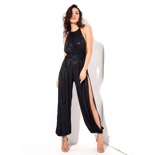 Lady Killer Black Cut Out Jumpsuit - Fashion Genie Boutique