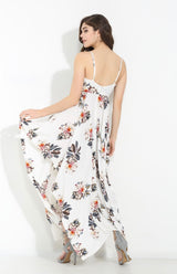 Koko White Floral Print Maxi Dress - Fashion Genie Boutique