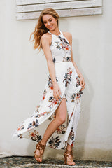 Koko White Floral Maxi Dress - Fashion Genie Boutique