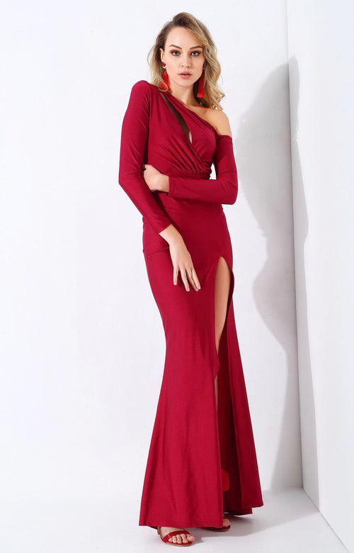 ca71cc5ced0 Showstopper Red Long Sleeve Maxi Dress – Fashion Genie Boutique