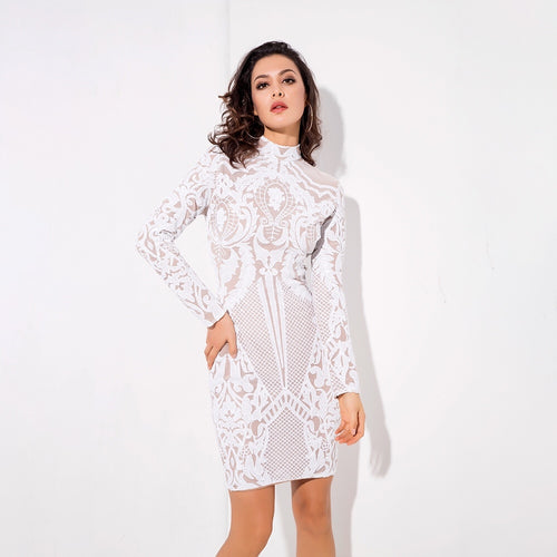 Going Good White Long Sleeve Mini Dress - Fashion Genie Boutique