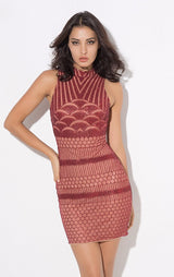 All Dolled Up Red Glitter Embellished Mini Dress - Fashion Genie Boutique