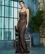 A Million Dreams Black Glitter Embellished Maxi Fishtail Dress - Fashion Genie Boutique