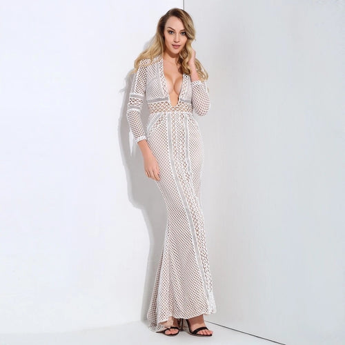 3ad29ffe4fe Break the Ice White Long Sleeve Maxi Dress - Fashion Genie Boutique