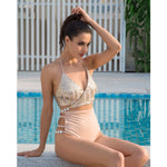 Your Fair Shore Gold Sequin Bikini - Fashion Genie Boutique