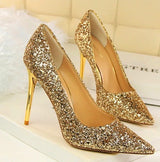 Till the Glitter Ends Gold High Heels - Fashion Genie Boutique
