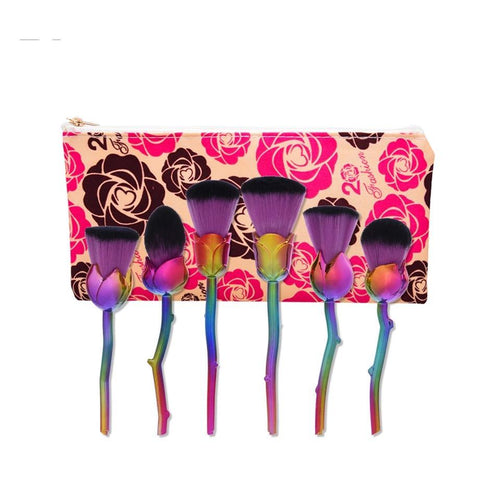 Purple Rose Make-up Brushes - Fashion Genie Boutique